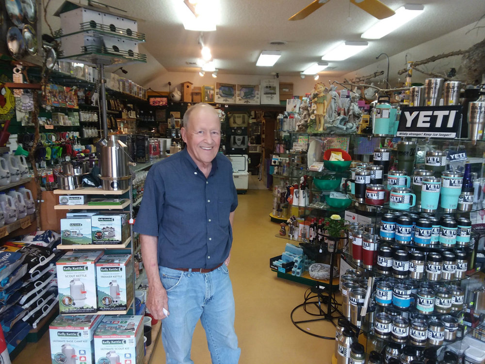 Roger Boe is the owner of BackYard Station, a downtown Frazee retail destination.