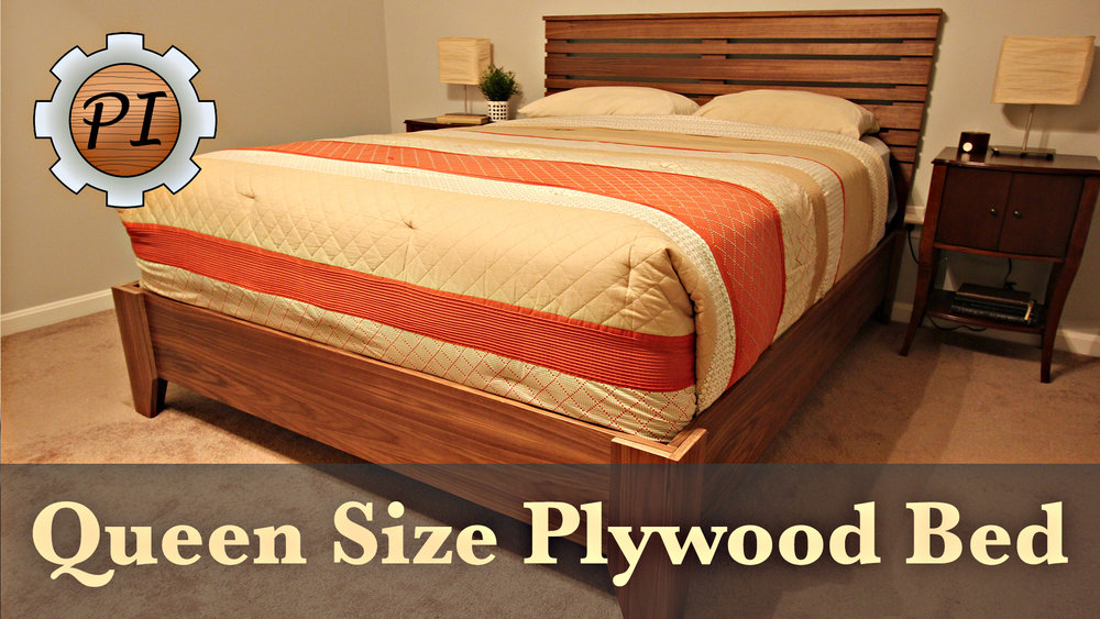 How To Make A Queen Sized Plywood Bed The P I Workshop