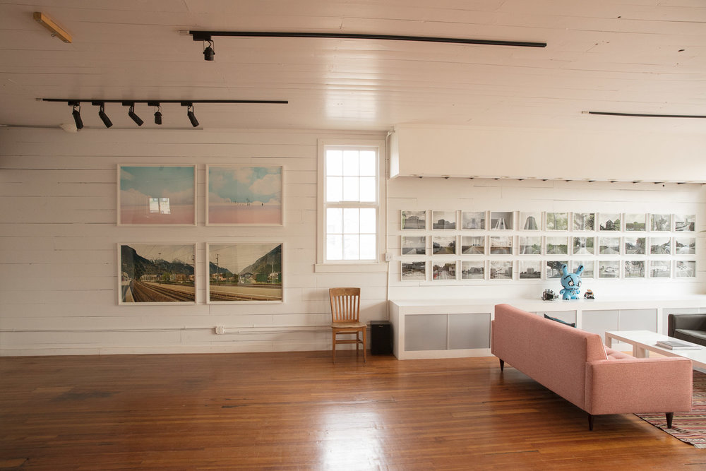 Looking west. (Artwork is available to tenants.)