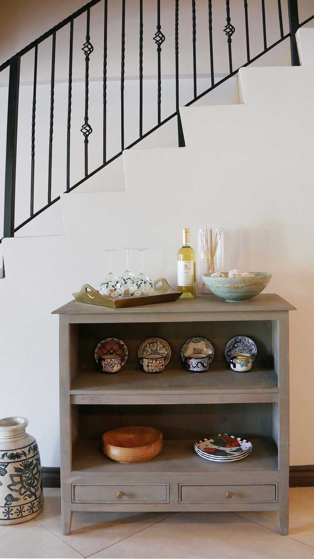 The styled sideboard