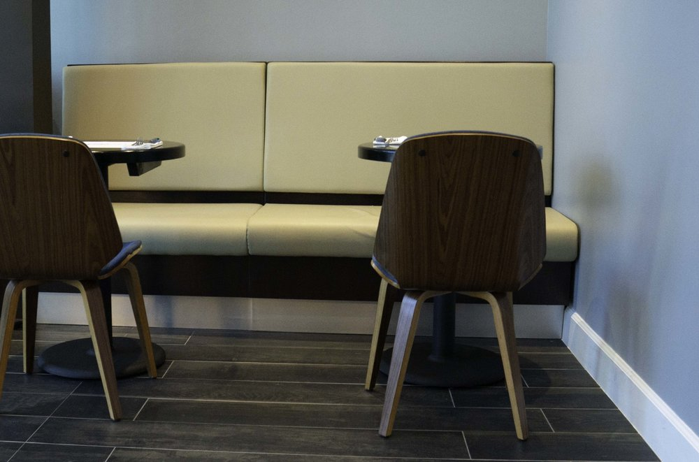 bistro seats built without hands