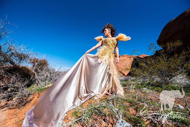 Quick tip: shooting from below helps you feel nice and tall and powerful, but you have to do it right. Make sure the lens doesn't go right under your nose, no one wants to see in there 😉 take a strong, powerful stance and own it.  Model: @kaykalisz  Gown and instructor: @caseydittmer  Camera @nikonusa lens @sigmaphoto 12-24mm