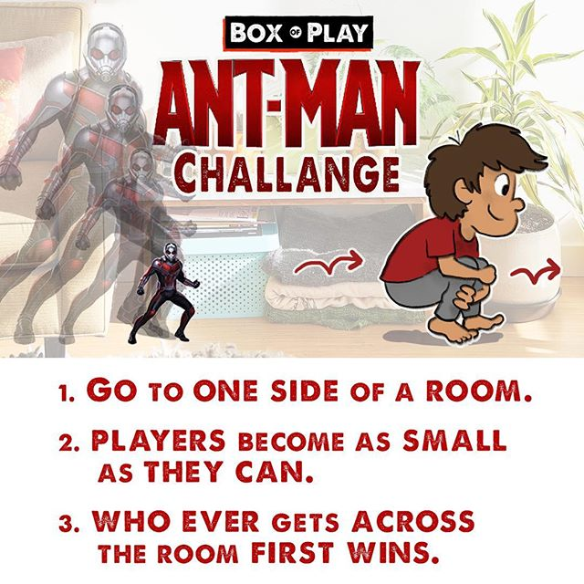 I'm a BIG fan of the ANTMAN movies. Here is a fun game for you're little superhero, that will get them moving & pretending. Have fun - Box of Play! . . #marvel #antman #antmanandthewasp #marvelmovies #marvelcomics #marvelgames #funmom#fundad #funfamily #game #familygamenight #boardgames#daddy #mommyandme #momlife#creative #drawing#illustration #familytime❤️ #creativeplay #silly #sillygames#creativekids #kidgames #playtime #momblogger #play #kidplay