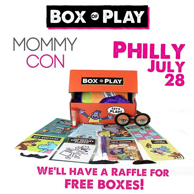 Box of play is  exhibiting at Mommycon in Philly july 28! http://mommycon.com/location/philadelphia/ I'm going to have raffels for FREE boxes! See you there - Box of Play! . . #mommycon #mommyconphilly #event #philly #subscriptionbox #play #raffle #july28th #mommyconnections #fun