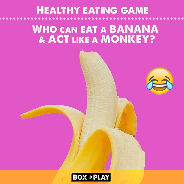 Getting kids to eat healthy things can be tricky, so I make it into a creative game. They are distracted by the fun and eat! Have fun - Box of Play! . . #banana #healthyeating #healthy #monkey #CharlesDeluvio #eatting #funny #funmom#fundad #funfamily #game #carride#talking #familygamenight #daddy #mommyandme #momlife#creative  #familytime❤️ #questions#creativeplay #silly #sillygames#creativekids #kidgames#foodgames #funfood #kidplay #play #momblogger
