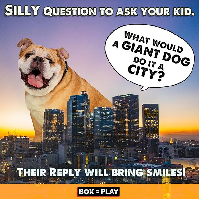 Instead of giving you child a screen to keep them busy, why not ask them a creative question? I will get both of you laughing and talking.😎😂🚗 Have fun - Box of Play . . #Dogs #storystarter #city #storystarter #funnydogs #bulldogsofinstagram #bulldog #bigcity #funmom#fundad #funfamily #game #carride#talking #familygamenight #boardgames#daddy #mommyandme #momlife#creativewriting #creative #drawing#illustration #familytime❤️ #questions#creativeplay #silly #sillygames#creativekids #kidgames#funkids