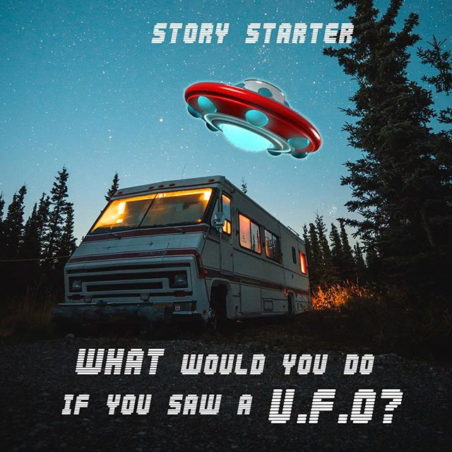 Use this is a card ride for unplugged fun! 😎🛸🛸🛸. . . #storystarters #momblogger #camping #ufo #alien #kidfun #dadfun #kids #offscreen #unplugged #kidsplay #play #story #create #brainstorm #ideas #laugh