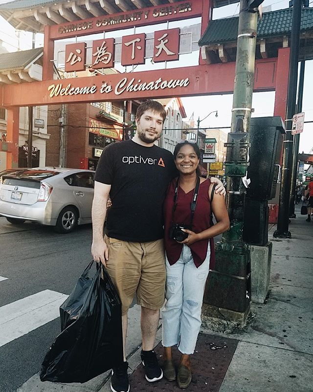 These past weeks have been stressful to say the least but glad to have my future hubs always on my side! We finally visited Chinatown with my brother!! I decided to film our adventure so be on the lookout soon for that video.  We want to go back soon, so What's your favorite thing to do in Chinatown in Chicago? . #chicagochinatown #hedoesntworkatoptiver#chicagophotographer #futurehusband #familygoals #chicagolifestyleblogger #chicagoentrepreneur #myplacechinatown