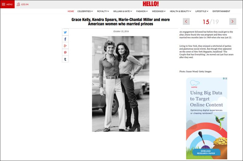 Diane Von Furstenberg in Hello Magazine