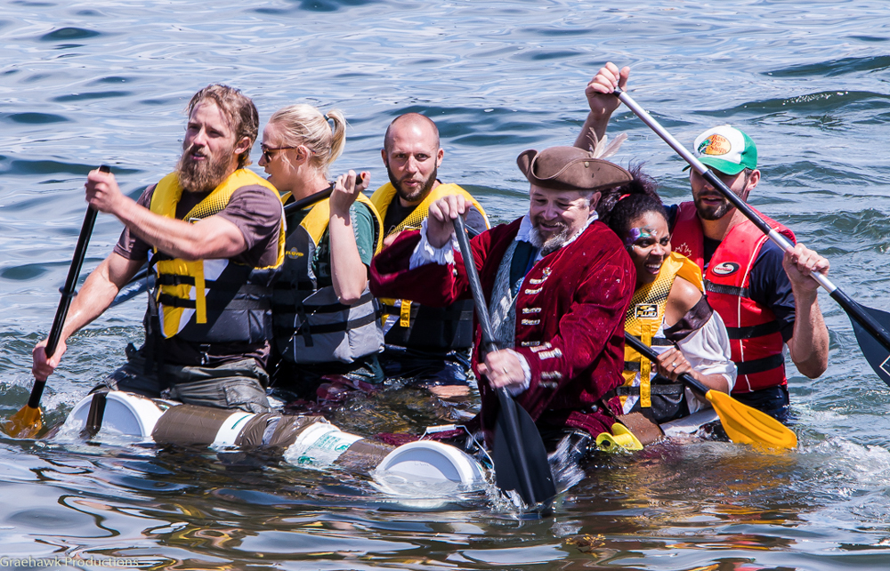 Our team at the Nanaimo Silly Boat Races.
