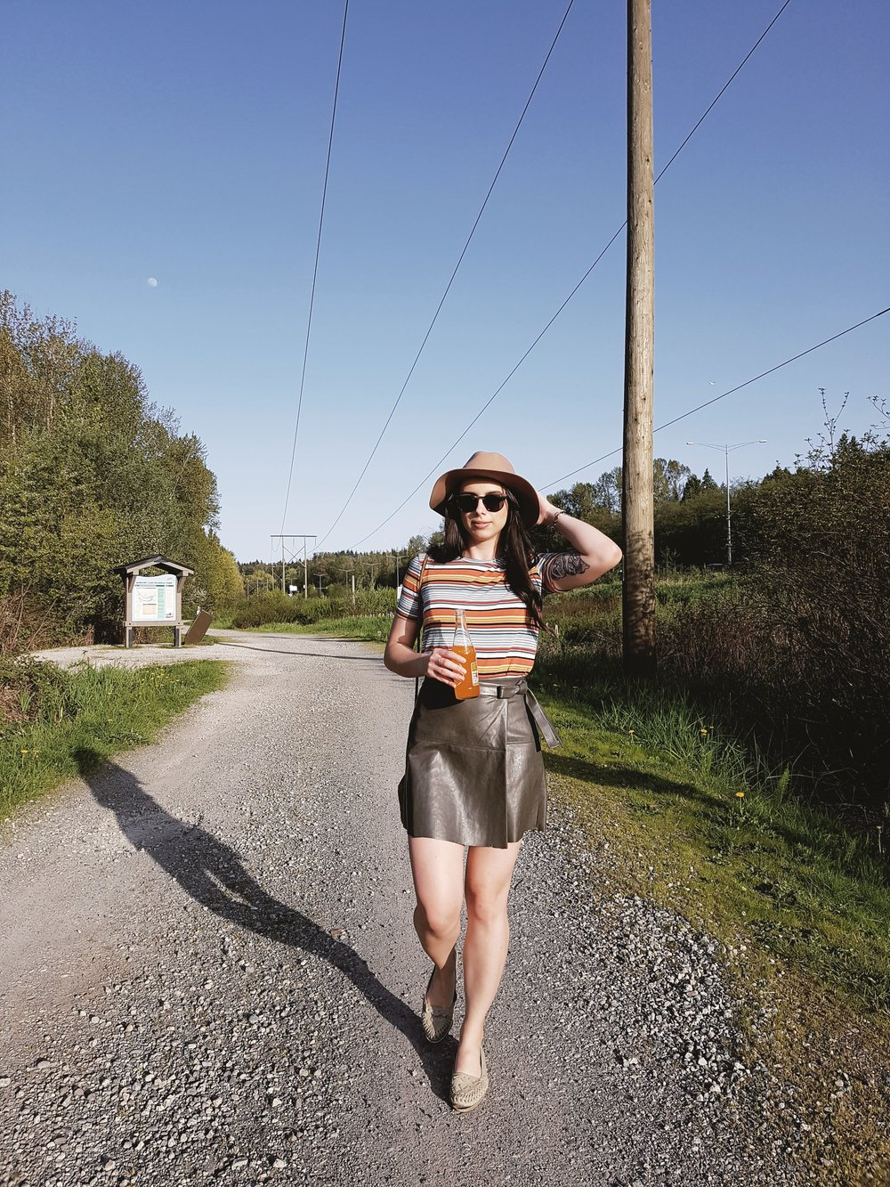 Aritzia Spurlock skirt , Zara tee, Urban Outfitters hat ( similar ),vintage shoes