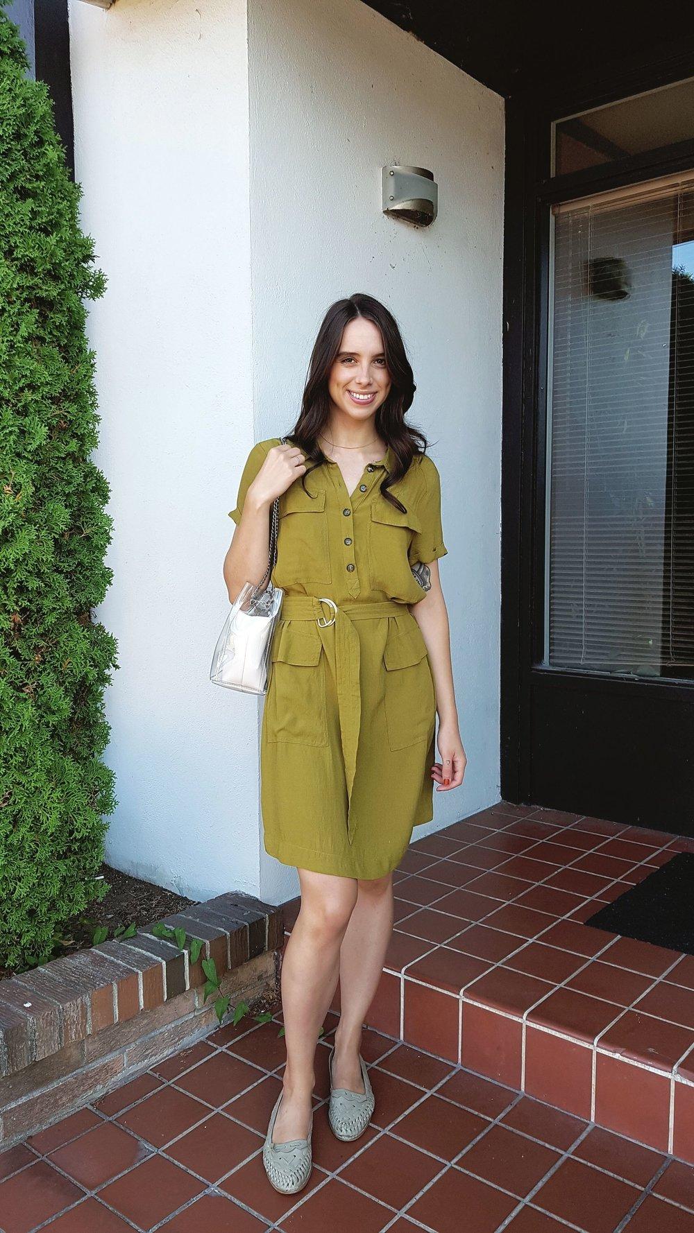 TUESDAY - Zara dress, vintage shoes