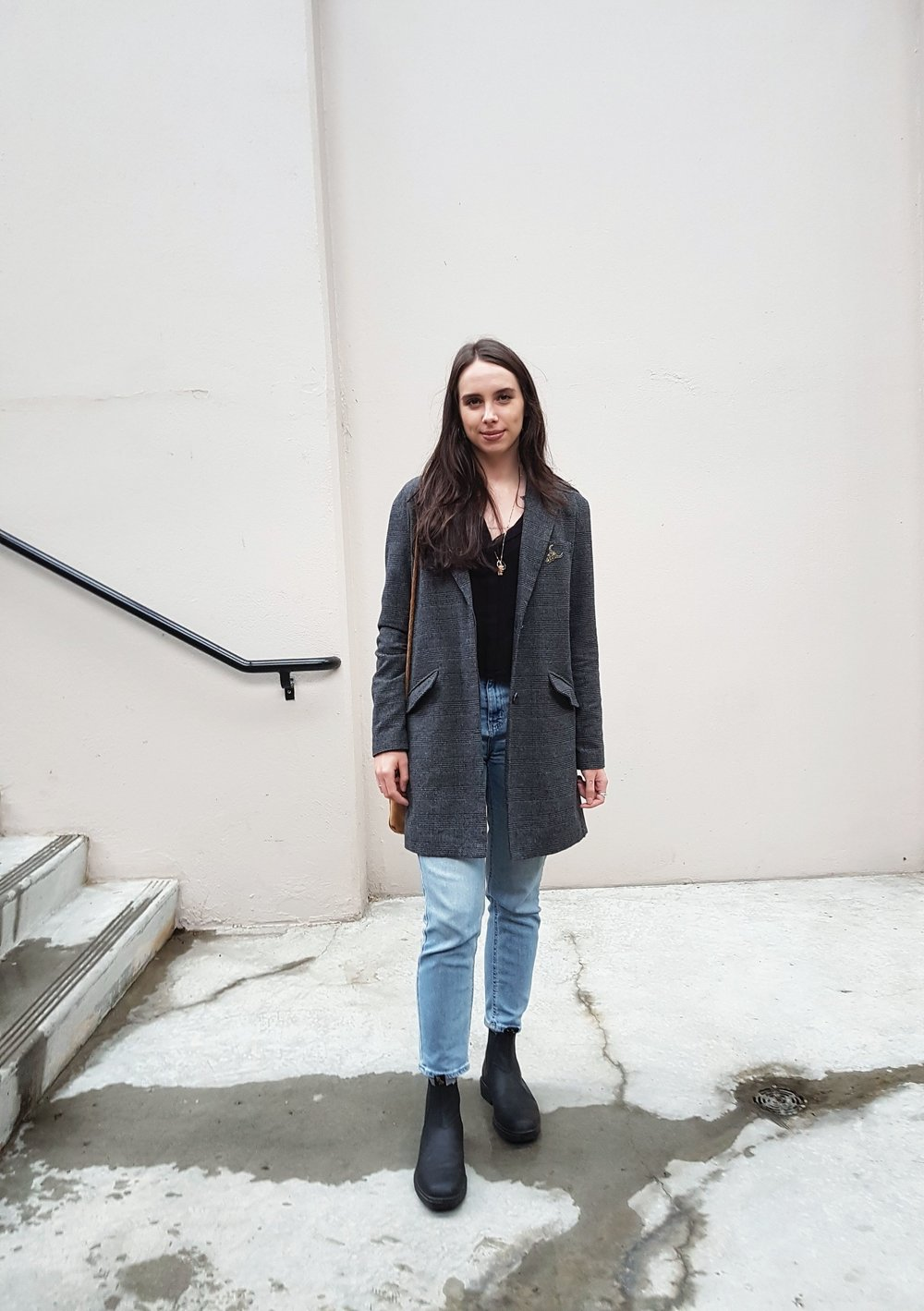 THURSDAY - Aritzia Wilfred shirt, 8th&Main coat, BDG jeans, Blundstone boots*My fave outfit of the week. It's so simple, but I love the clean lines and how comfy it is.
