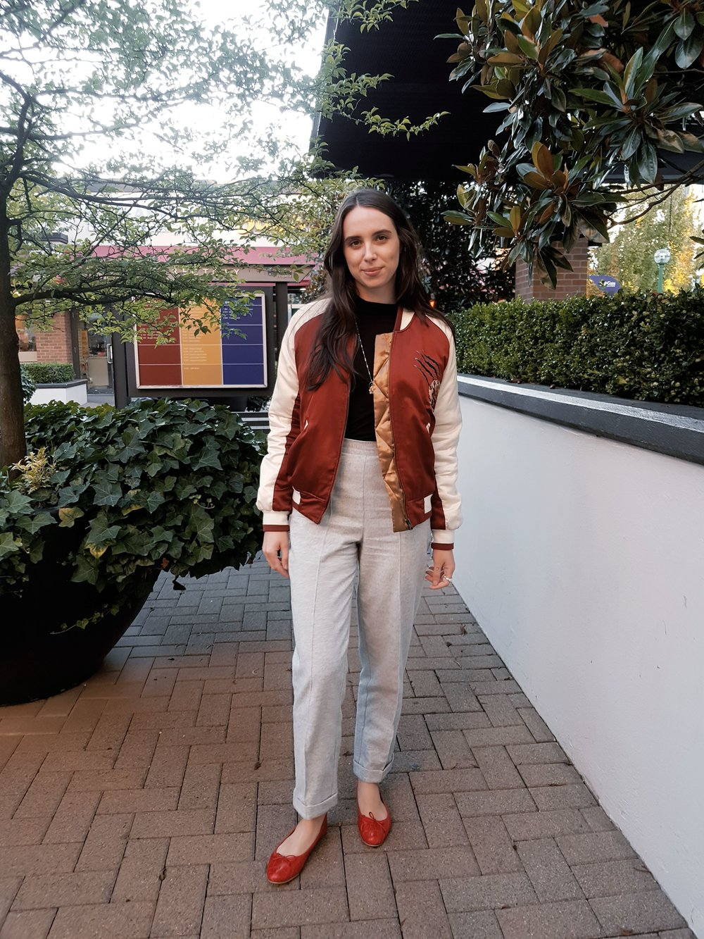 MONDAY - Urban Outfitters jacket, Dynamite turtleneck, pants bought in Russia, Zara flats