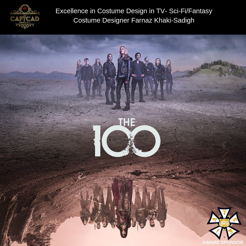 The 100: 513 Damocles Pt 2 - Costume Designer: Farnaz Khaki-SadighAssistant Designer: Julie Le Page, Coordinator: Heike Maulhardt, Costume Builders: Julian LeClerc, Ash Turner, Jalisa-Ocean Hunt, Aaron Williamson & Vanessa Green, Costume Breakdown: Brandon Peterson, Gaya Konikov, Heather Schmit & Christina Maree Leeson, Sewing/Cutting: Kelly Allyn Gardner, Heather Westergaard & Monaco Krohn, Truck Costumers: Kath Colonna & Claude Georgen, Set Supervisor: Manuelita Kinsey Johnson, Buyers: Sophie Anza & Tarla Goertzen, BG Coordinator: Jordan Hintz, BG Costumers: Sean Herd, Anita Holler, & Annaleese Cochrane, Prep Costumer: Sabia Kular