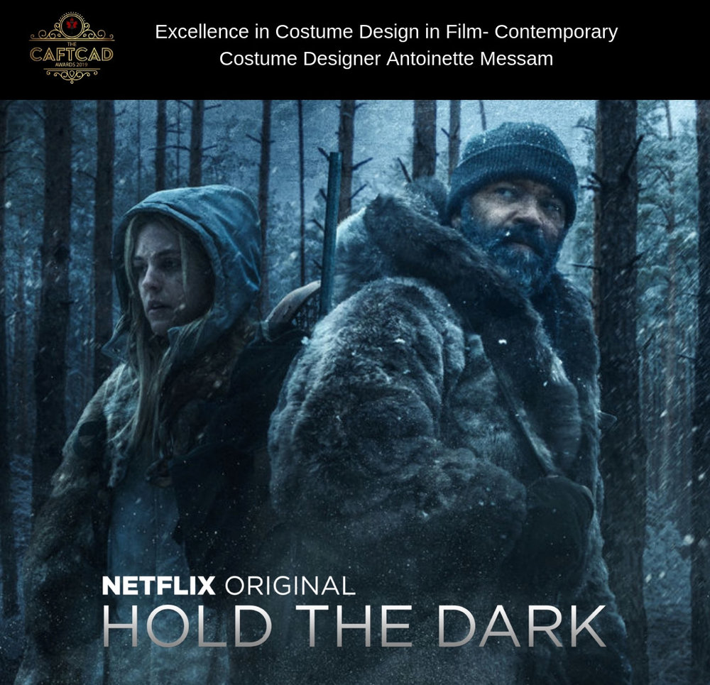 Hold The Dark - Costume Designer: Antoinette MessamLos Angeles- Illustrator: Christian Cordella, Toronto- Buyer: Suzanne Alpin, Calgary- Assistant Designer: Ann Steel, Costume Supervisor: Hanne Whitfield, BG Coordinator: Shelley Goldsack, Buyer: Benjamin Toner, Breakdown Artists: Laura Anderson & Carley Laine Powell, Cuter: Cristina Sierra, Sticher: Lilly Sky, Set Supervisor: Charlotte Robertson. Morocco- Key Costumer: Rachid Aadassi, Set Supervisor: Christina Cattle, Dresser/Set Costumers: Azedine Ngar & Youssef Art Hamd, Ager/Dyer: Houcine El Bahja