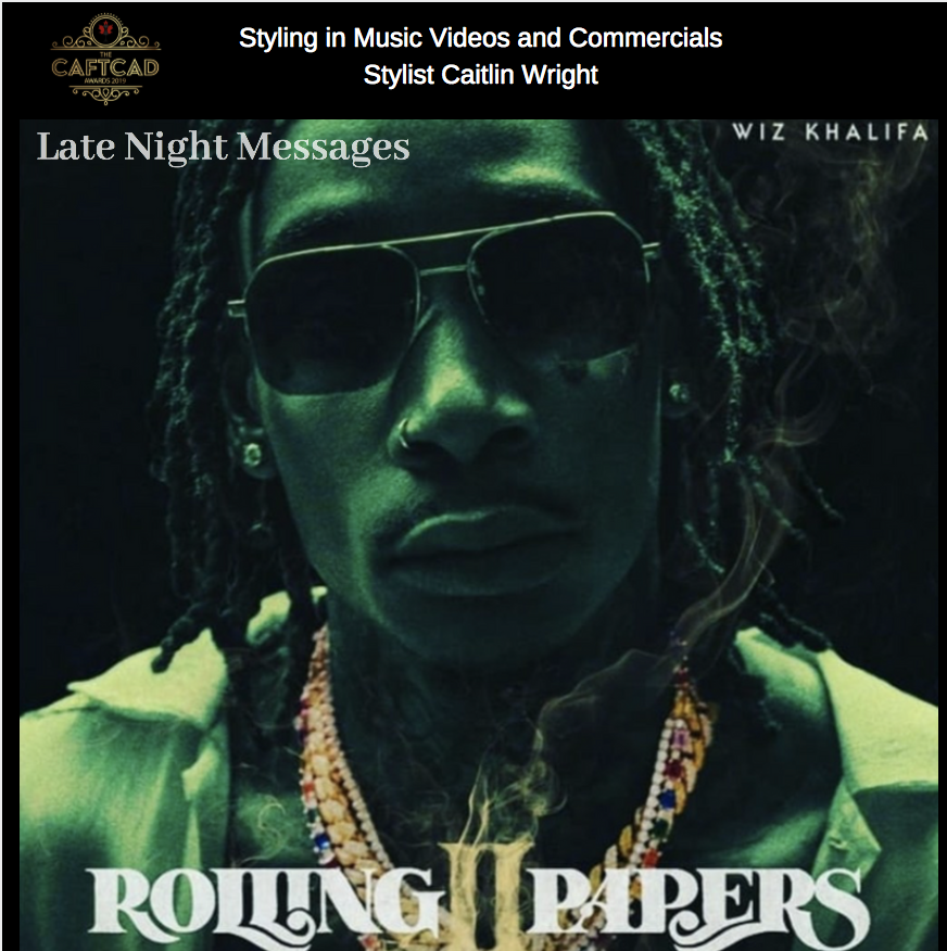 "Wiz Khalifia '""Late Night Messages'"" - Stylist: Caitlin WrightWardrobe Assistant: Tara Ocansey"