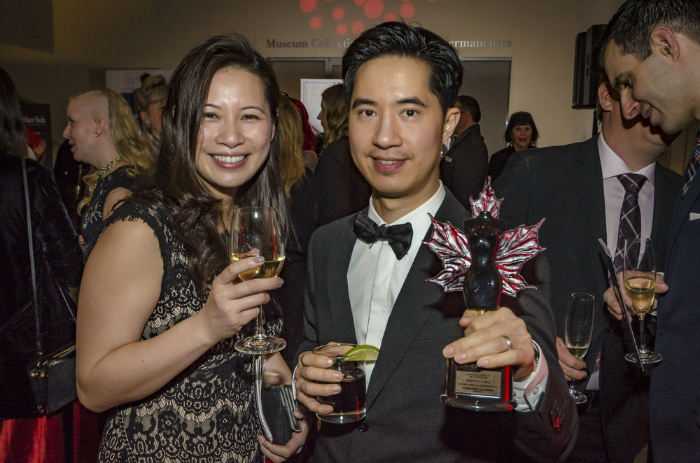 Allana Lau and her brother, Winner for Illustration, Keith Lau