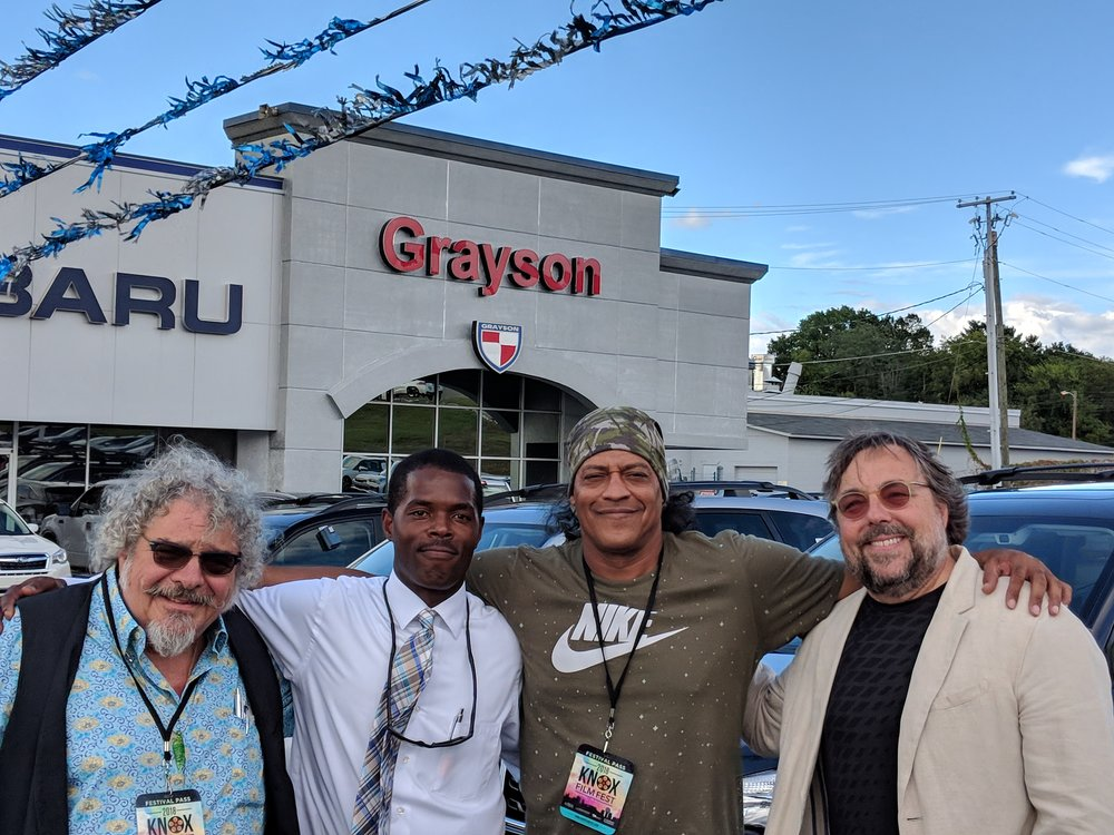 Producer Michael Candela and Executive Producer and Director Richard De Witt along with actor Cylk Cozart enjoyed meeting the great team at Grayson Hyundai in Knoxville, Tennessee.