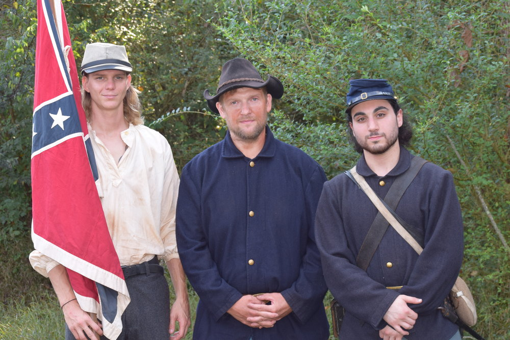 Actors Tyler Russell, Chris Bath and Nathan Miller-Behind the Scenes- Into the Wilderness movie