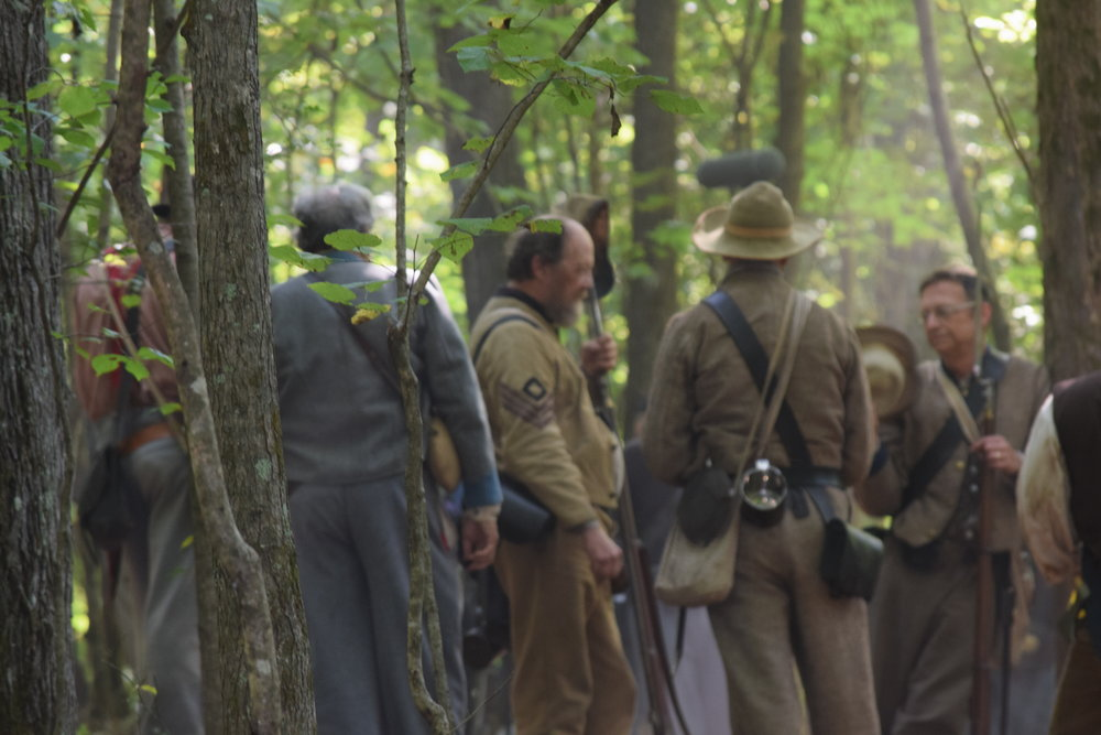 Behind the Scenes during filming of Into the Wilderness