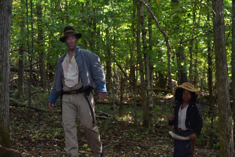 Shuler Hensley and Christopher-Lawson Palmer on location on Into the Wilderness/ Photo Credit: Angela Caito