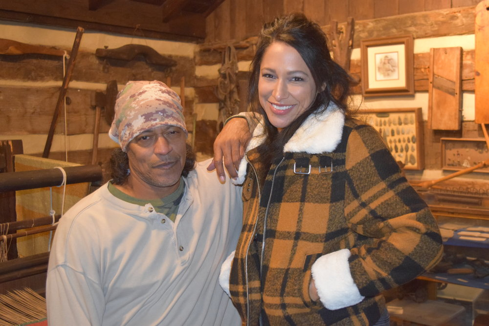 Photo Credit: Angela Caito- Actress Nikki Cozart with Cylk Cozart on location with the Into the Wilderness movie