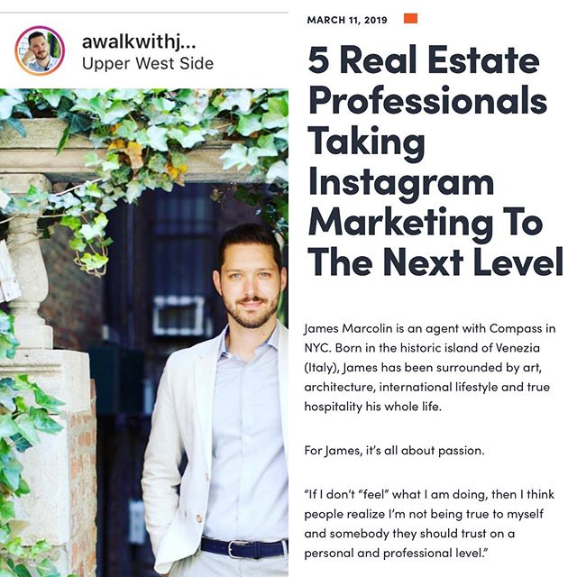 "I had the pleasure to be interviewed by @core_title and be selected as ""5 Real Estate Professionals Taking Instagram Marketing To The Next Level"" Read my interview below and swipe left"