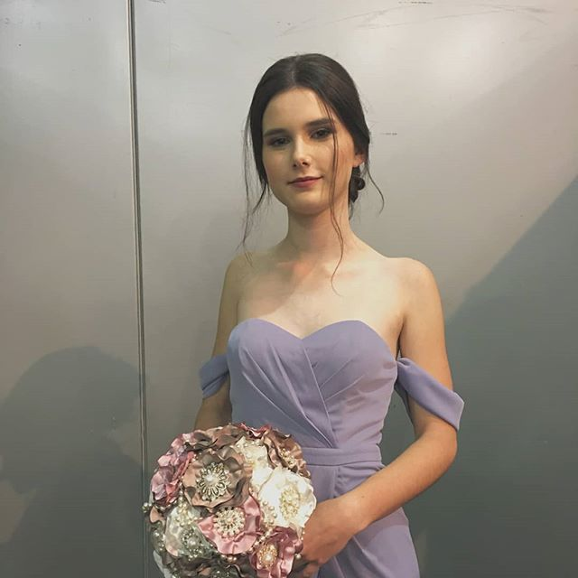 #tbt to my first bridal show for the Queensland Bridal Expo. #model #bridesmaids #bridalmakeup #bridalhair #bridalexpo #runway #runwaymodel #bridesmaid