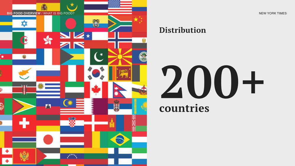 These companies have global reach in more than 200 countries that reach emerging markets.