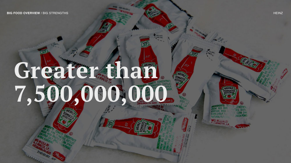 Heinz sells more ketchup packets annually than there are people on earth.