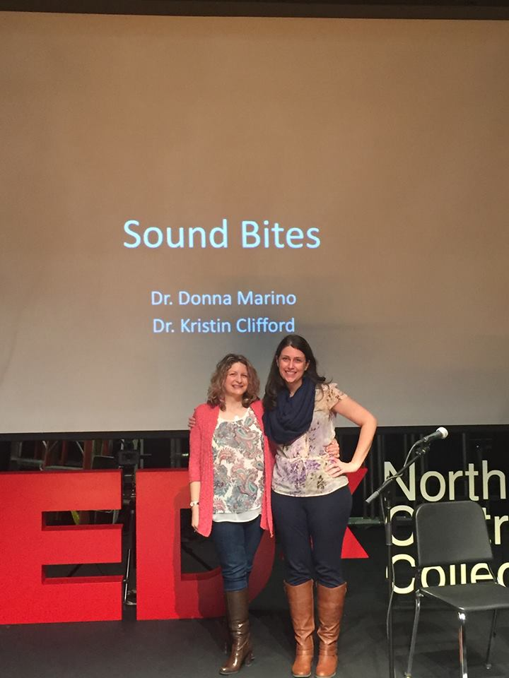Click here to watch Dr. Donna Marino and Dr. Kristin Clifford present on the impact of sound at TEDx North Central College