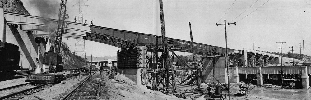 20. Constructing a bridge that would become part of the Arroyo Seco Parkway (the 110), 1937