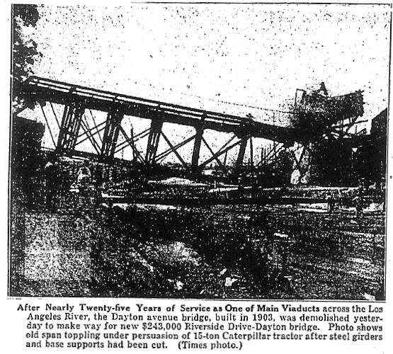 21. L.A. Times photo of the 1903 Dayton Avenue Bridge being demolished, June 17th, 1927