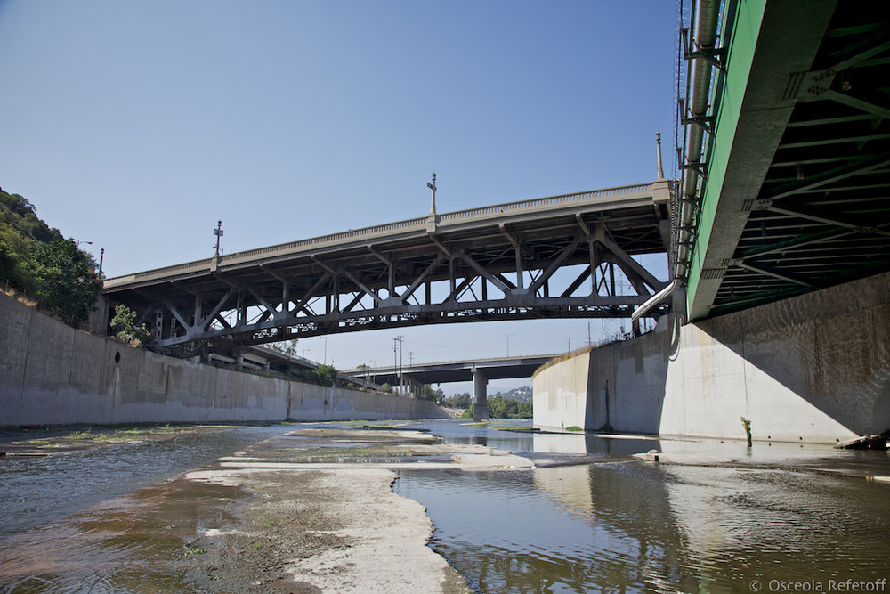 23. Riverside Drive Bridge, viewed from inside the Los Angeles River, 2011