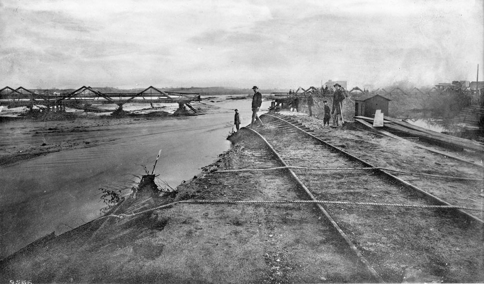 24. Flood damage south of the confluence, 1885