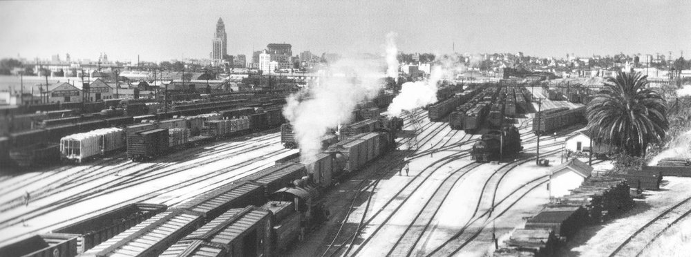 34. View of River Station from the North Broadway Bridge, 1953