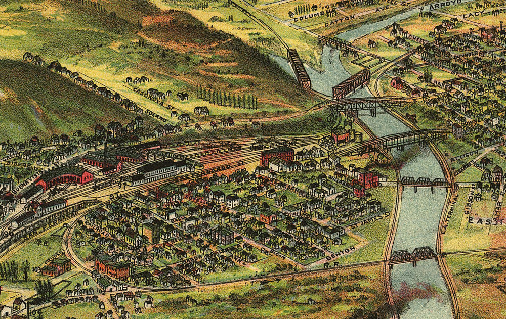 43. Section of the Pierce Map showing the River Station area, 1894