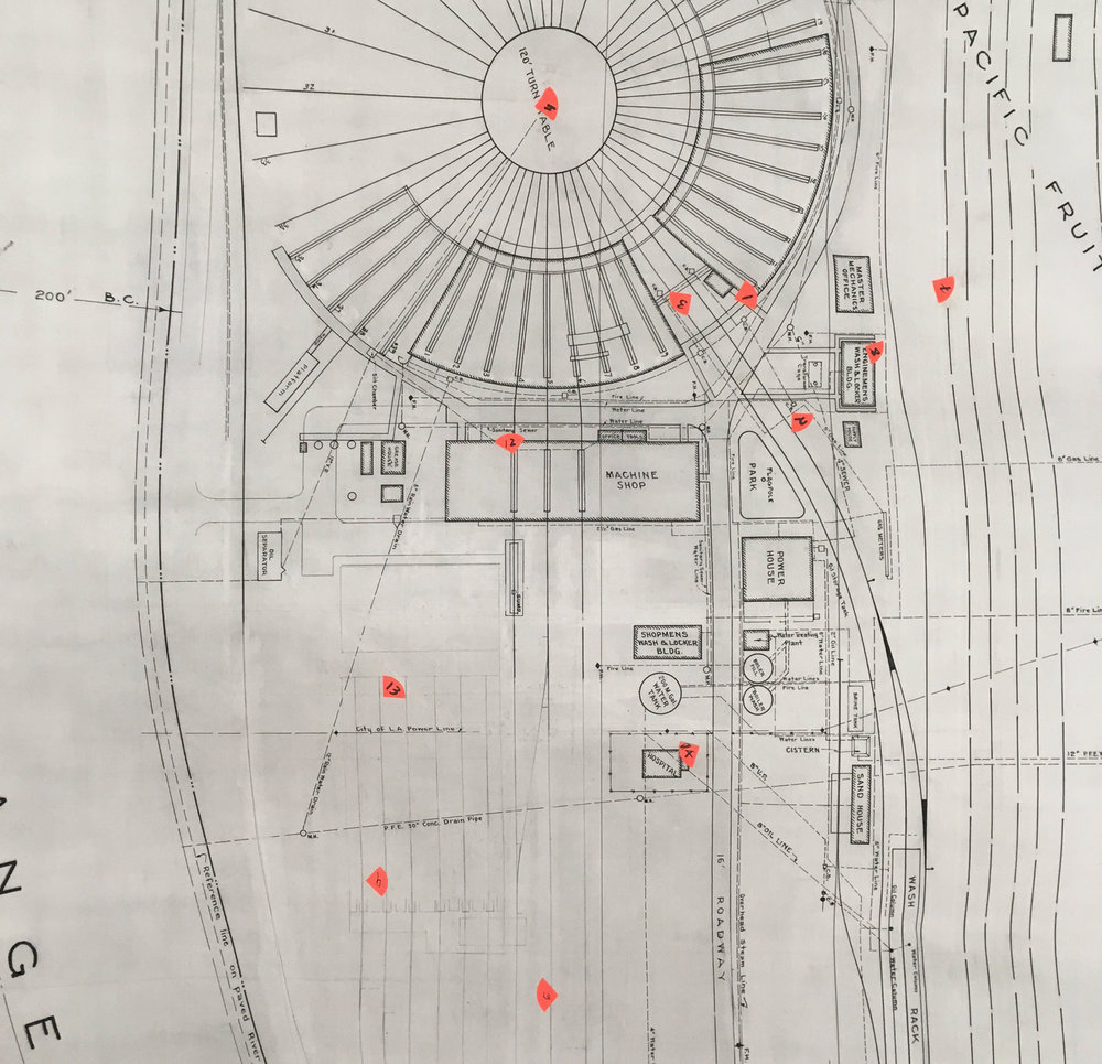 7. Detail of plan of Taylor Yard, 1920