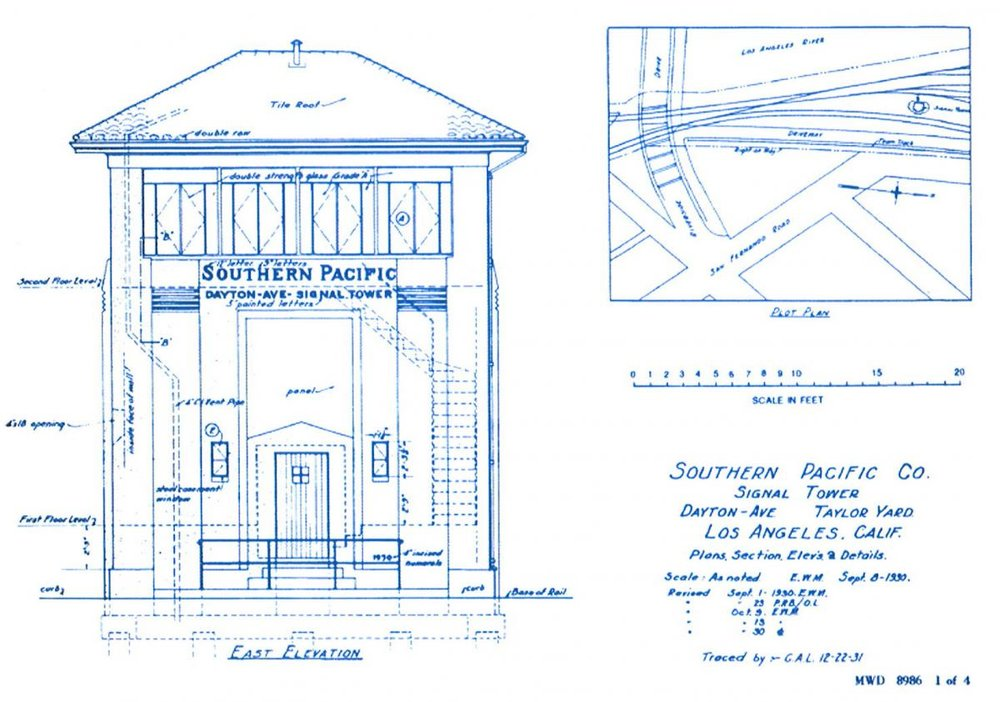 8. Dayton Avenue signal tower elevation, 1930