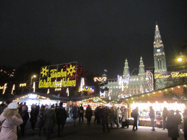 Vienna's Rathaus Christmas market, as visited in 2012.