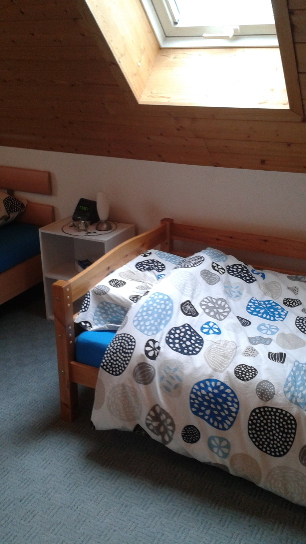 I haven't slept there often, but this snug room epitomizes rest for me.