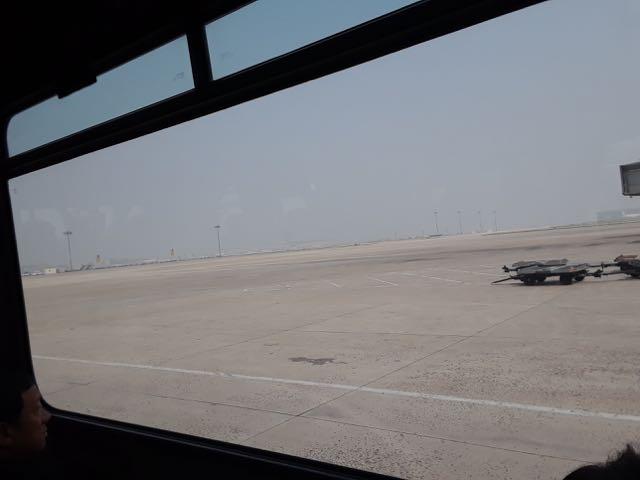 Beijing haze outside my bus window.