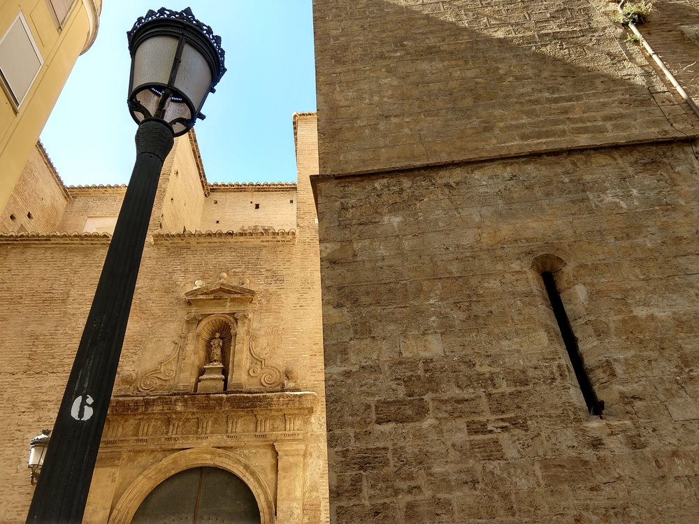 Part of a church in Valencia — one of many I saw.