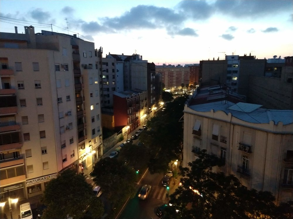 """The view from my second """"home"""" in Valencia."""