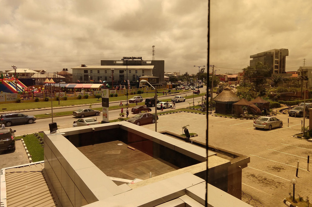 View from a Lagos bank.