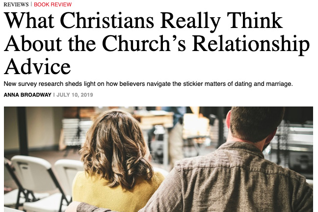New article: Is Christian relationship advice 'Relatable