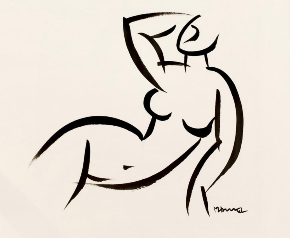 12 x 12 Nude Ink #1448