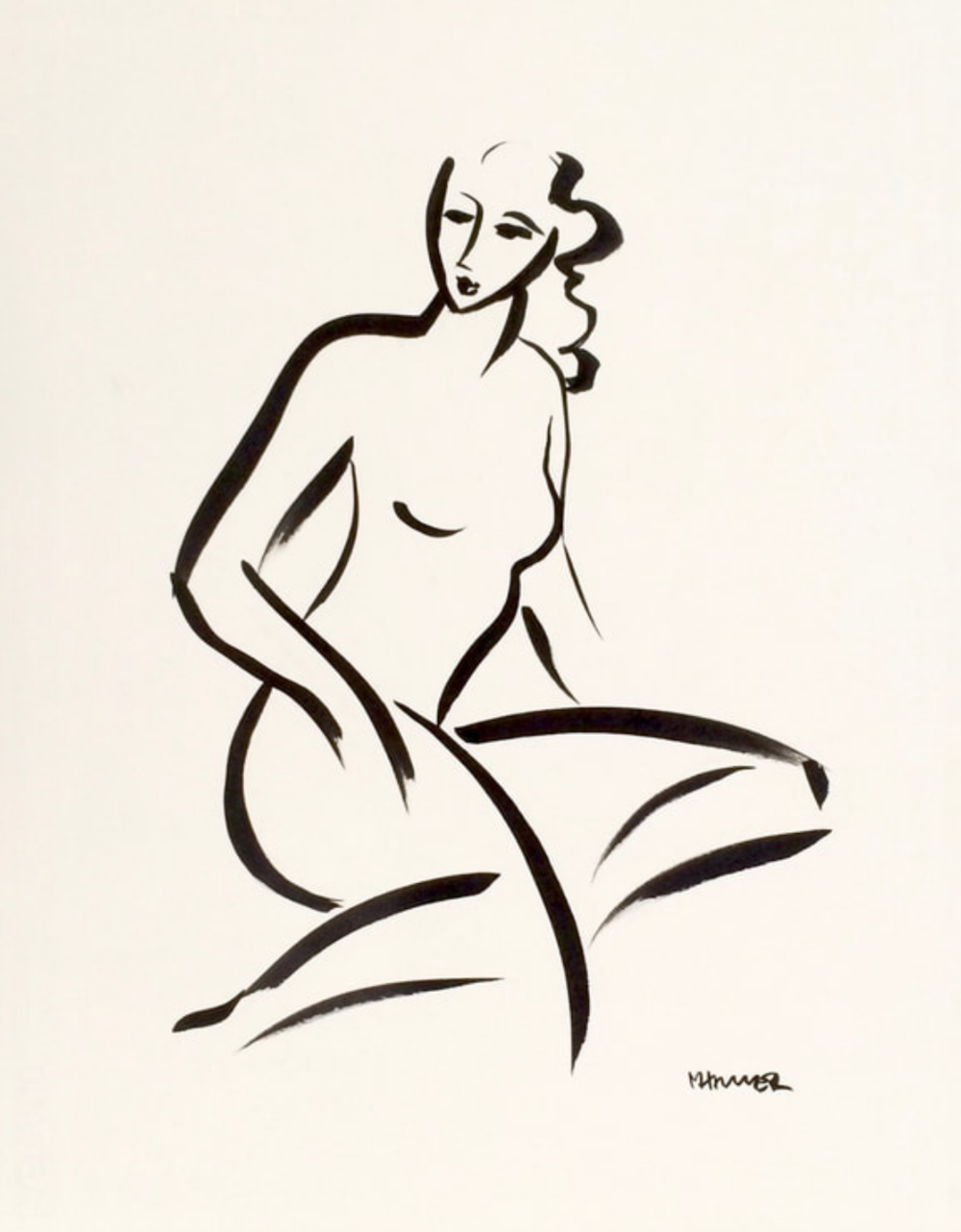 22 x 16 Nude Ink #1362