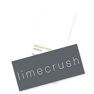 Logo design, business cards, copy writing and  supporting materials design for Limecrush fashion brand, based in South Australia.